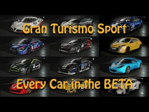 EVERY CAR unlocked in Gran Turismo Sport BETA.