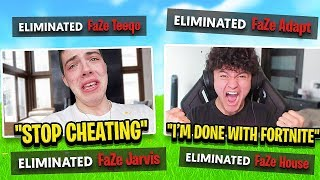 I Stream Sniped FaZe Members until they RAGE QUIT FORTNITE