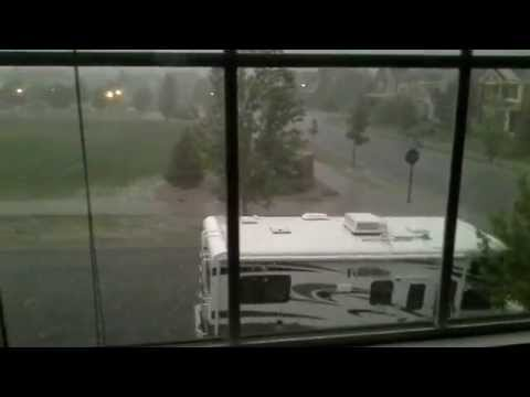 Ridiculous hail storm in Arvada, CO  7/7/14