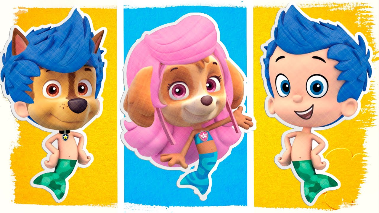 paw patrol as bubble guppies coloring pages fun coloring book videos for kids youtube