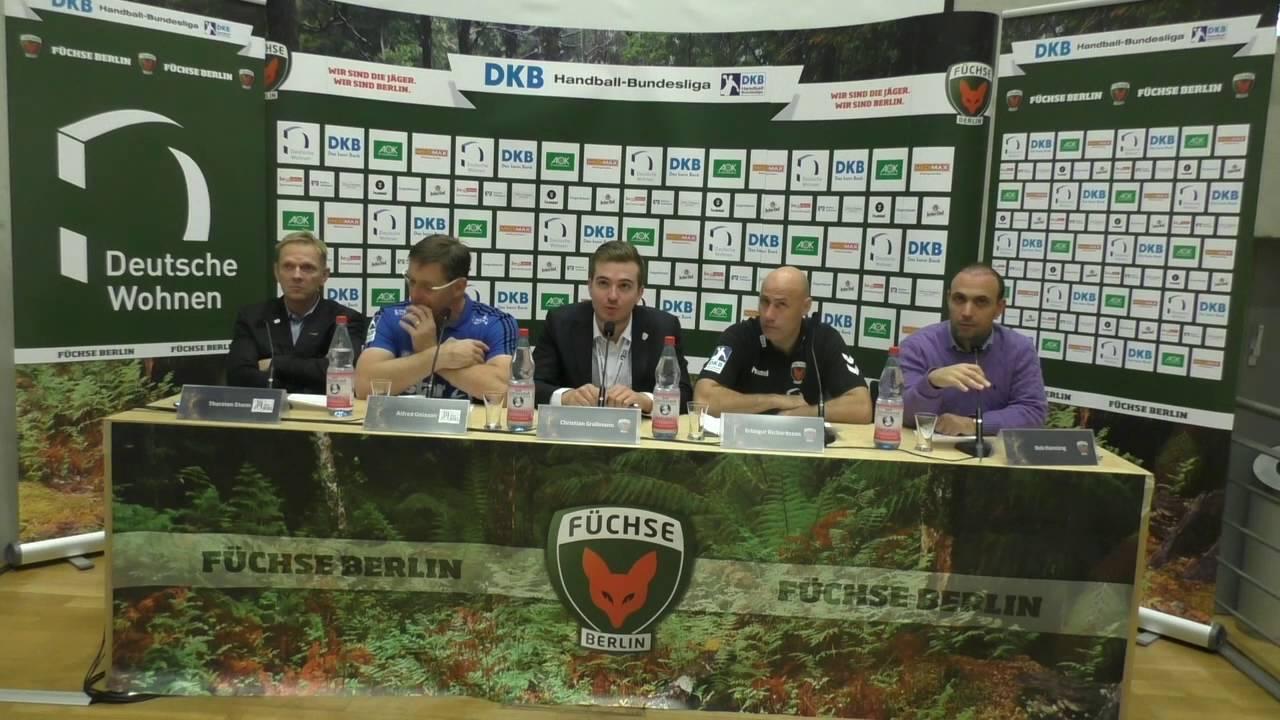Pressekonferenz Füchse Berlin vs. THW Kiel