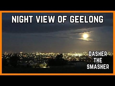 NIGHT VIEW OF GEELONG (Full Moon) 14/9/2019