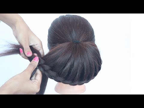 2 minute hairstyle with banana clutcher || easy hairstyle || quick hairstyle || juda hairstyle thumbnail