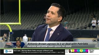 ESPN Monday Night Countdown | Adam Schefter react: Antonio Brown agrees to 1-yr deal with Patriots
