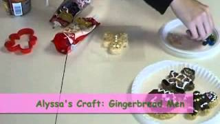 Crafty Creations #47: Rice Krispies Gingerbread Men & Sipping Snowmen Straws