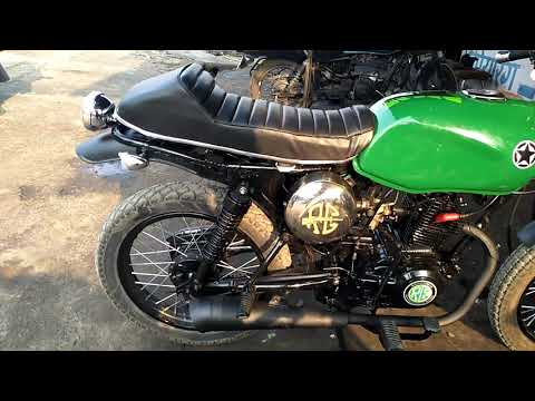 Modified Bajaj CT 100 to cafe racer