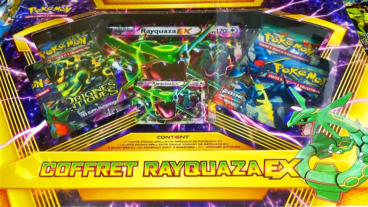 epic ouverture d 39 un coffret pok mon rayquaza ex epic. Black Bedroom Furniture Sets. Home Design Ideas