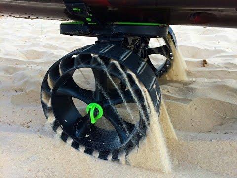 Sandtrakz soft sand C-Tug Kayak trolley review