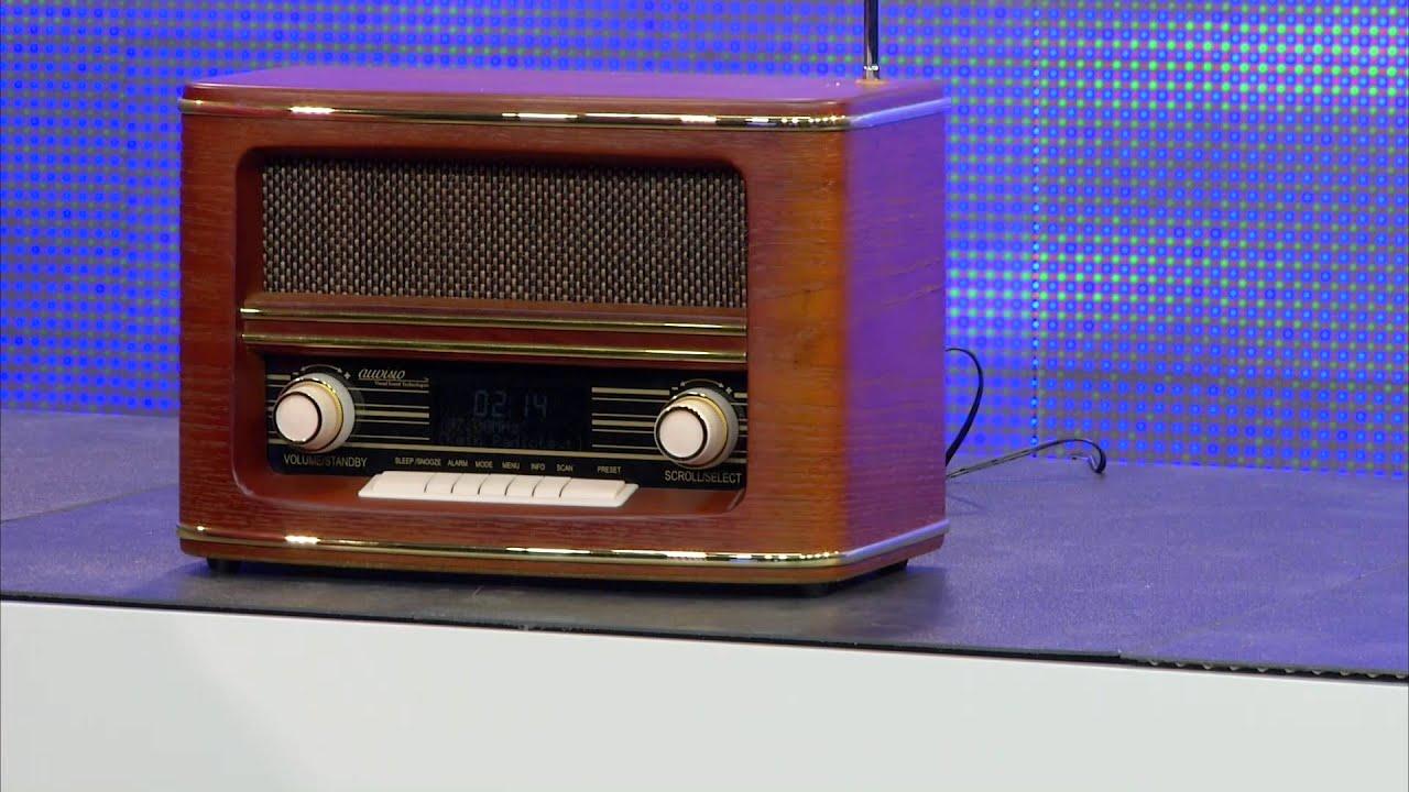 auvisio digitales nostalgie stereo radio mit dab fm und. Black Bedroom Furniture Sets. Home Design Ideas