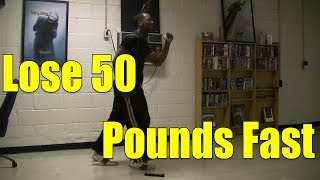 Lose 50 Pounds Fast (within 5 months) w/ Ski-Step HIIT Workout #1