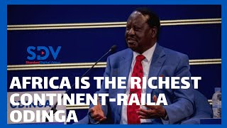\'Africa is rich.\' Says Raila while addressing energy issues in Africa during Grand Inga Dam conferen