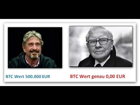 Bitcoin Blase? John McAffee und Warren Buffett, Dönnerstags Update #90