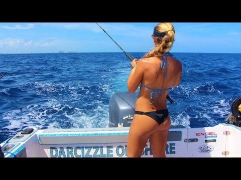 Sailfish & Tuna Offshore Florida Girl Fishing Video