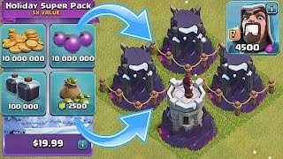 Clash Of Clans 😀 ALL MAX LVL 10 TOWERS🔸BUYING NEW UPDATE Pt. 2🔸