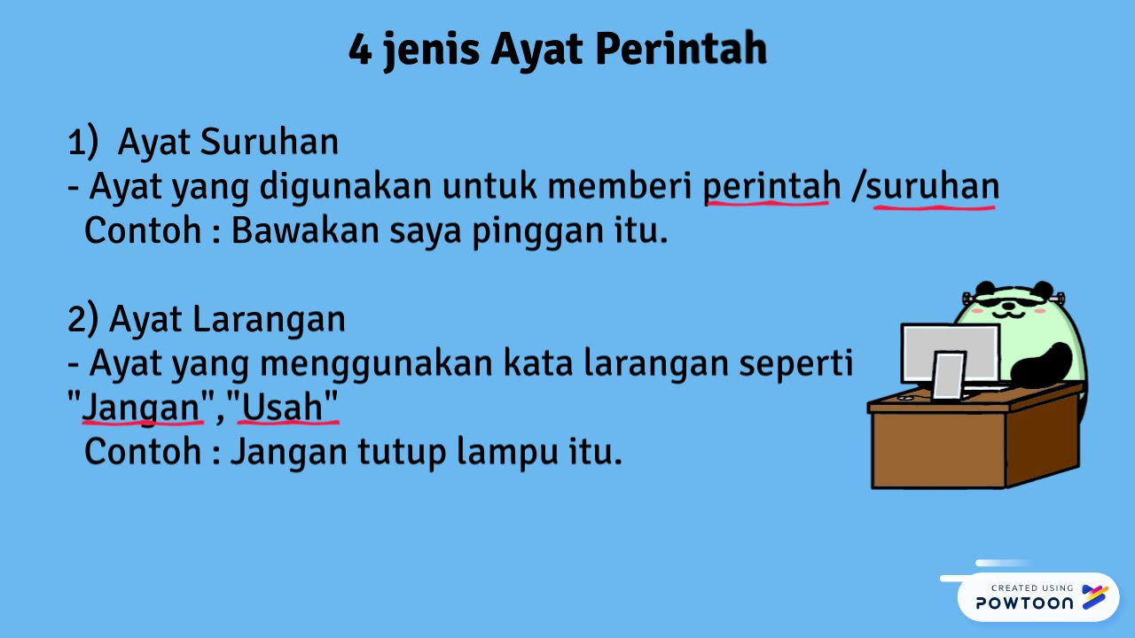 Jenis Ayat Bahasa Melayu Tahun 3 Youtube