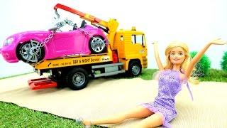 Барби и пробка на железной дороге. Мультик Барби. Игры Барби для девочек