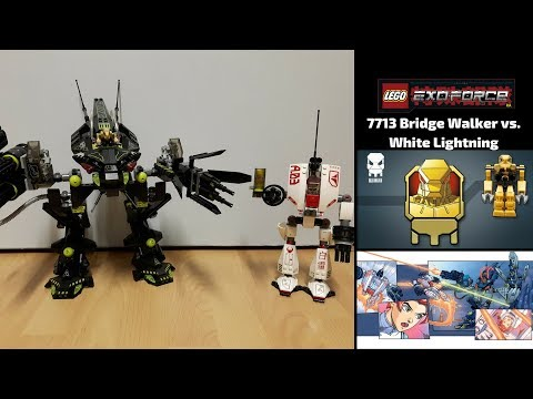 Lego Exo-Force 7713 Bridge Walker vs. White Lightning