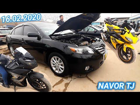 Мошинбозор ДУШАНБЕ Сечка  Мотоцикл Некси Lexus Toyota Camry Опел Астра G Хечбек 16 02 2020