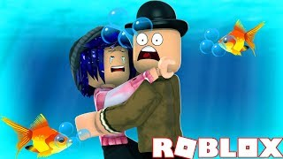 MY GIRLFRIEND AND I GET TRAPPED UNDERWATER! Roblox Callum and Chelsea play Sharkbite!
