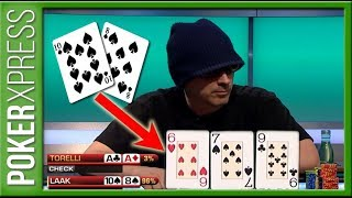When you flop a 'MONSTER hand' against pocket Aces!
