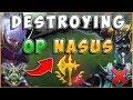 DESTROYING NEW OP NASUS WITH IRELIA | IRELIACARRIESU - League of Legends