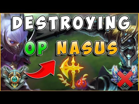 DESTROYING NEW OP NASUS WITH IRELIA | IRELIACARRIESU - League of Legends thumbnail