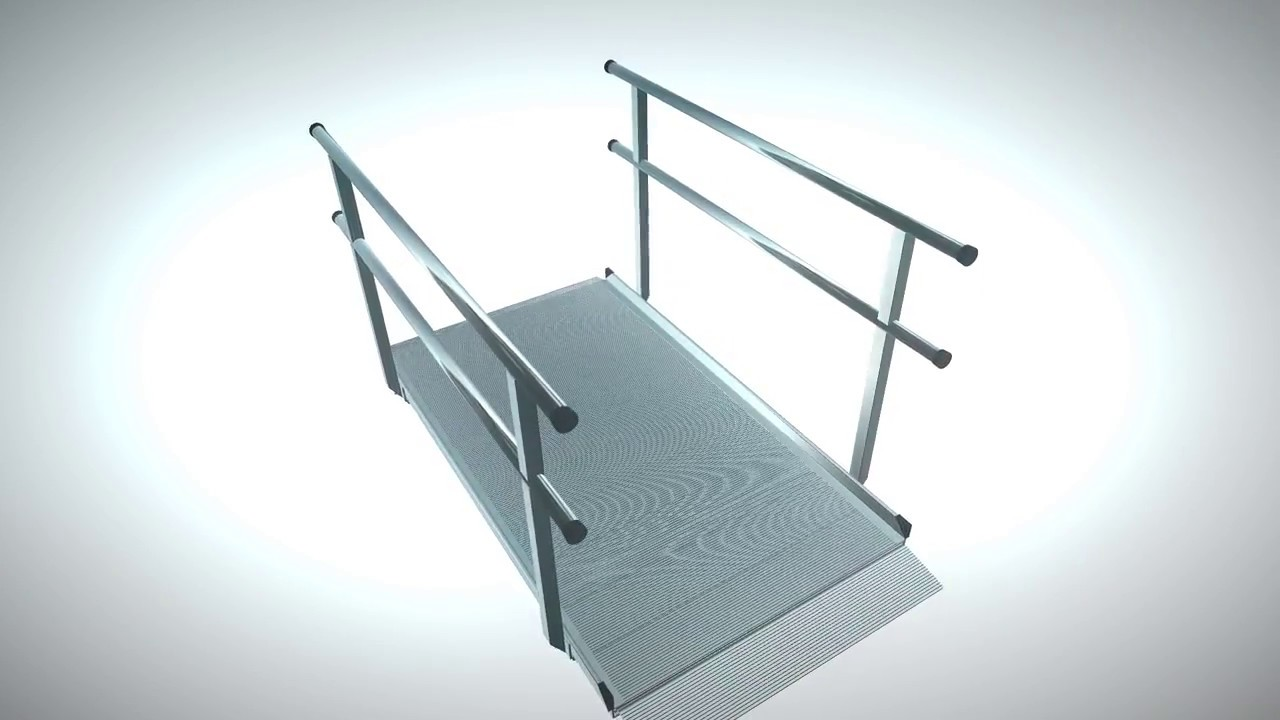 EZ-Access Gateway Aluminum Wheelchair Access Ramp with Handrails ...