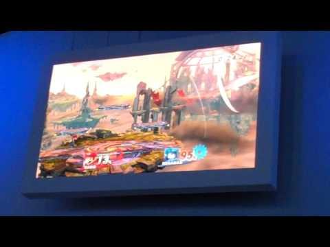 Super Smash Bros.Wii U Mega Man Gameplay Footage (E3 2013)