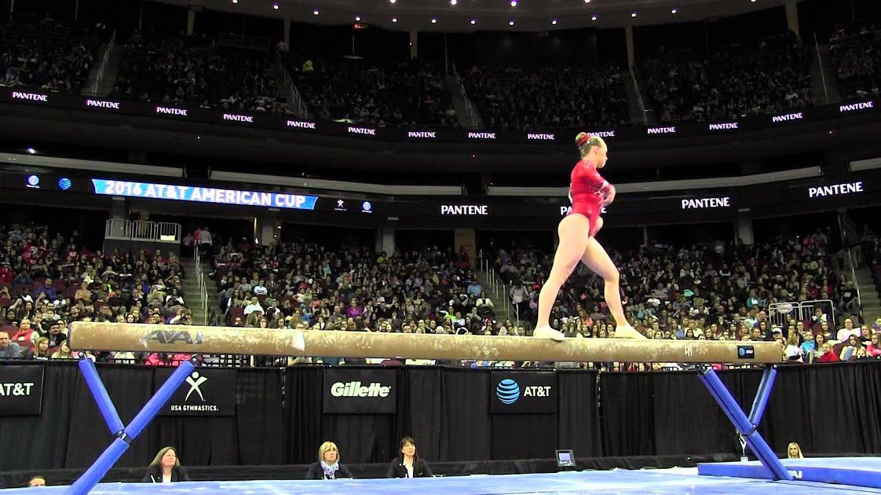 elsabeth black can balance beam atu0026t american cup usa gymnastics