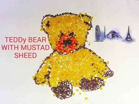 How to make teddy bear with daal and mustad?//DO with toddlers