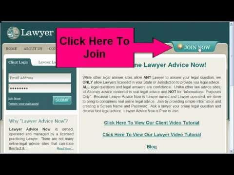 Online Lawyer Advice Client Video Tutorial
