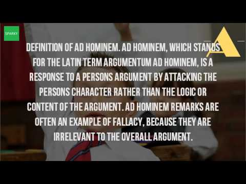What Is Ad Hominem In Literature Youtube
