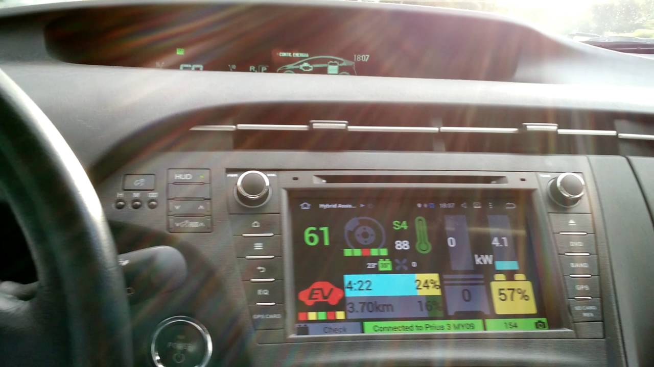 Software Android: Hybrid Assistant su Toyota Prius 3 serie con head unit  Android 5 1