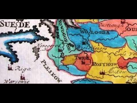 карта великой россии 1723 года