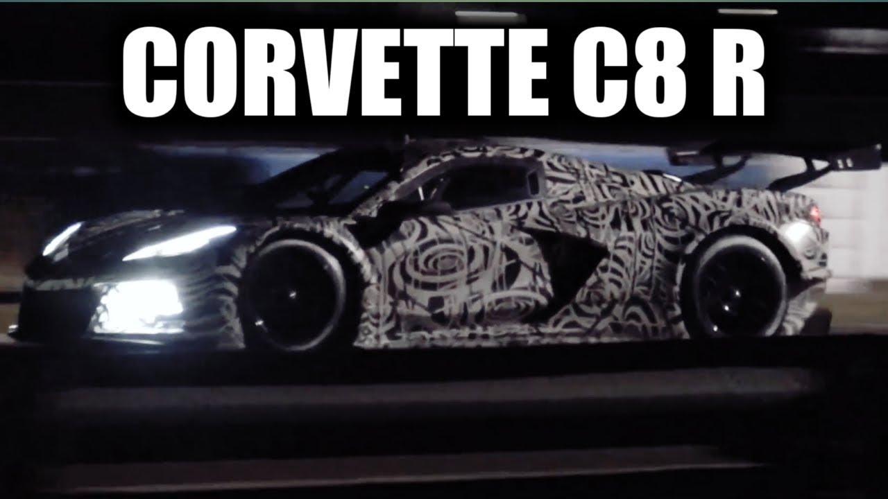 Night Testing The New 2020 C8 R Mid Engine Corvette At ...