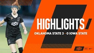 Yochum Completes Hat Trick | Oklahoma State 3-0 Iowa State | Cowgirl Soccer Highlights