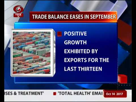 Trade balance eases in September