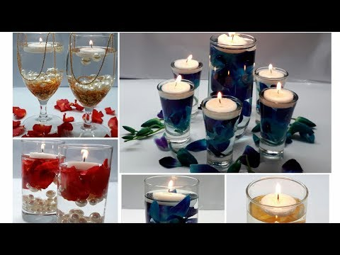 5 Water Candle Centrepiece/  Water Candles For DIWALI/ Water Candles Ideas for Diwali, wedding party