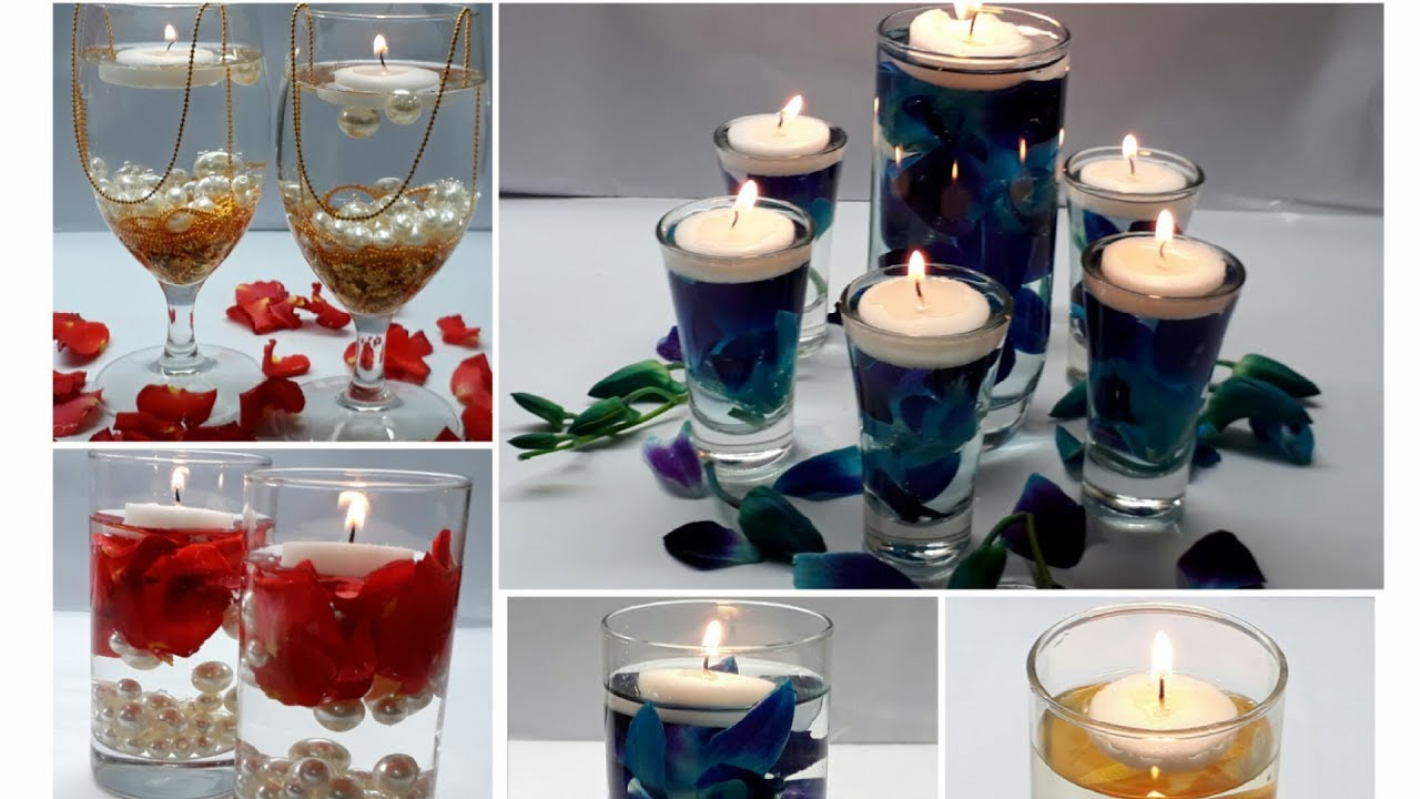 5 Floating Candle Centrepiece Water Candles For Diwali Ideas Wedding