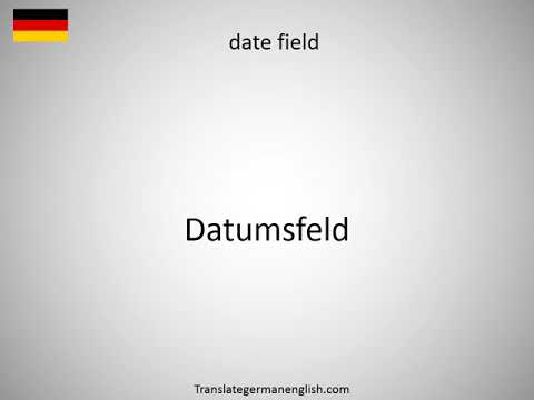 How to say date dictionary in German?