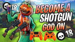200 IQ BEST SHOTGUN TIPS ON CONSOLE! (Fortnite Battle Royale) Tutorial