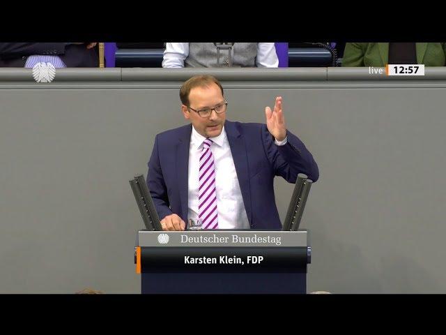 Karsten Klein, FDP: Bundestagsrede zum Haushaltsentwurf des Wirtschaftsministeriums (10.09.2019)