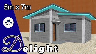 Small Space 6x7m  42sqm  House Floor Plan/design Idea With 2 Bedroom  Philippines