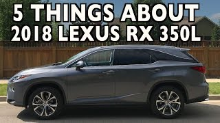 5 Things About The 2018 Lexus RX 350L on Everyman Driver
