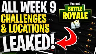 *LEAKED* ALL WEEK 9 CHALLENGES! TREASURE MAP LOCATION MOISTY MIRE! (Fortnite Battle Royale Gameplay)