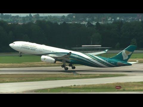 ✈ Oman Air A330-343X take-off at Zurich Airport (ZRH/LSZH) - fullHD