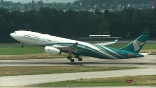 ✈ Oman Air A330-343X take-off at Zurich Airport (ZRH/LSZH) - fullHD