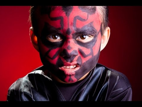 sc 1 st  YouTube & DARTH MAUL Face Makeup - Check it out! - YouTube
