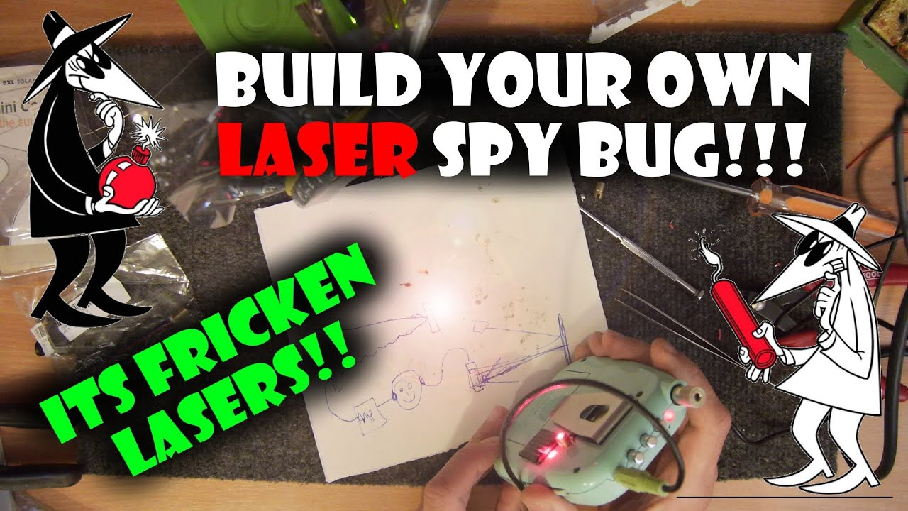 Make your own Laser Spy Bug! - A Tutorial !!365th Video!!