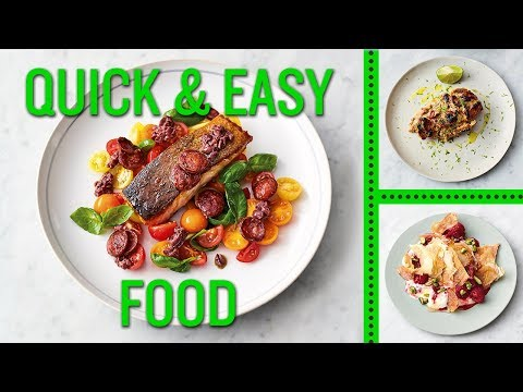 Jamie's Quick And Easy Food | Smoky Chorizo Salmon, Gnarly Peanut Chicken And Honey Berry Filo Smash